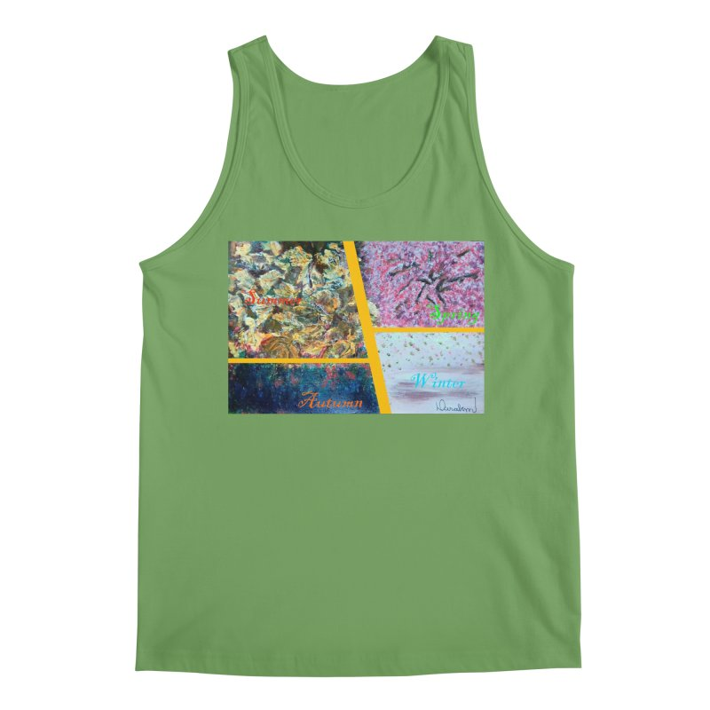 The Four Seasons Matsuo Basho Men's Tank by Darabem's Artist Shop. Darabem Collection