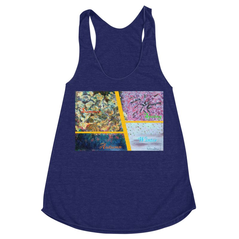 The Four Seasons Matsuo Basho Women's Racerback Triblend Tank by Darabem's Artist Shop. Darabem Collection