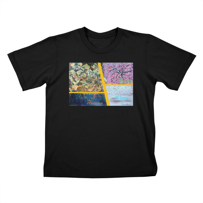 The Four Seasons Matsuo Basho Kids T-Shirt by Darabem's Artist Shop. Darabem Collection