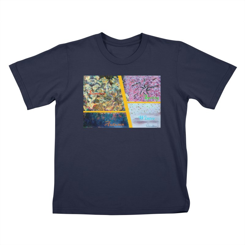 The Four Seasons Matsuo Basho Kids T-Shirt by Darabem's Artist Shop. Darabem Collection
