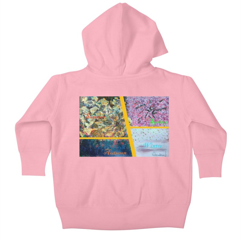 The Four Seasons Matsuo Basho Kids Baby Zip-Up Hoody by Darabem's Artist Shop. Darabem Collection