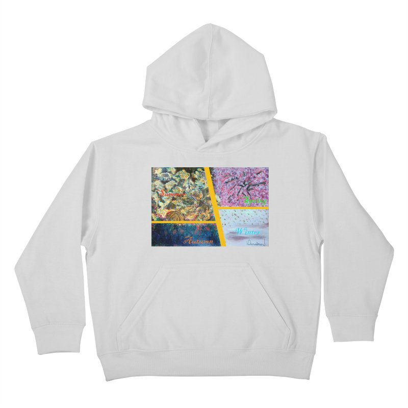 The Four Seasons Matsuo Basho Kids Pullover Hoody by Darabem's Artist Shop. Darabem Collection