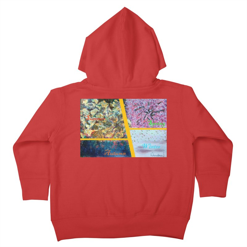 The Four Seasons Matsuo Basho Kids Toddler Zip-Up Hoody by Darabem's Artist Shop. Darabem Collection