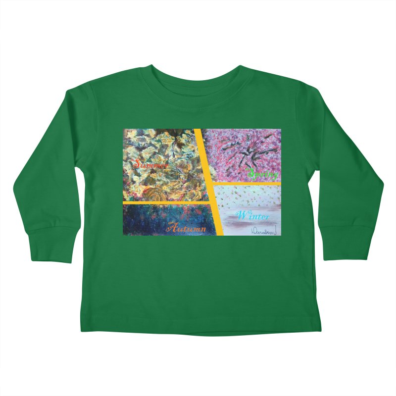 The Four Seasons Matsuo Basho Kids Toddler Longsleeve T-Shirt by Darabem's Artist Shop. Darabem Collection