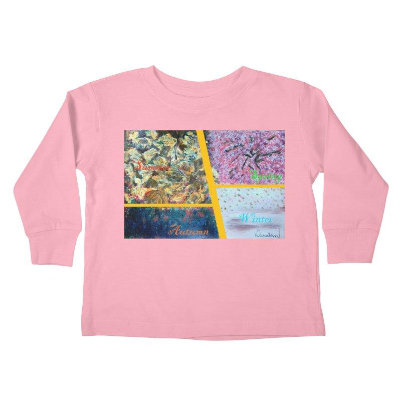 The Four Seasons Matsuo Basho Kids Toddler Longsleeve T-Shirt by Darabem's Artist Shop. Darabem Collection