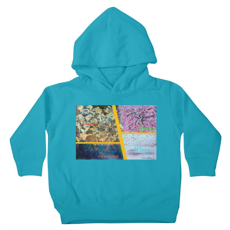 The Four Seasons Matsuo Basho Kids Toddler Pullover Hoody by Darabem's Artist Shop. Darabem Collection