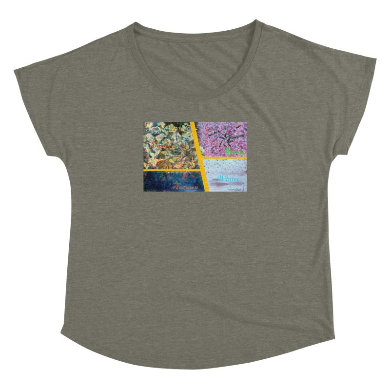 The Four Seasons Matsuo Basho Women's Dolman Scoop Neck by Darabem's Artist Shop. Darabem Collection
