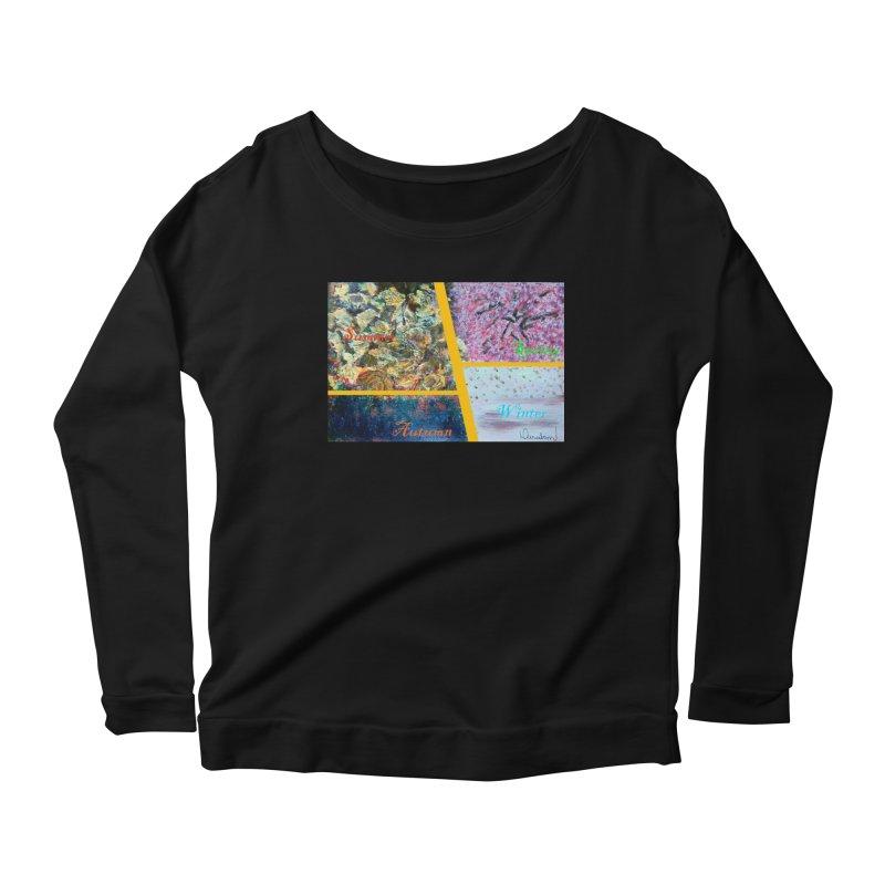 The Four Seasons Matsuo Basho Women's Scoop Neck Longsleeve T-Shirt by Darabem's Artist Shop. Darabem Collection