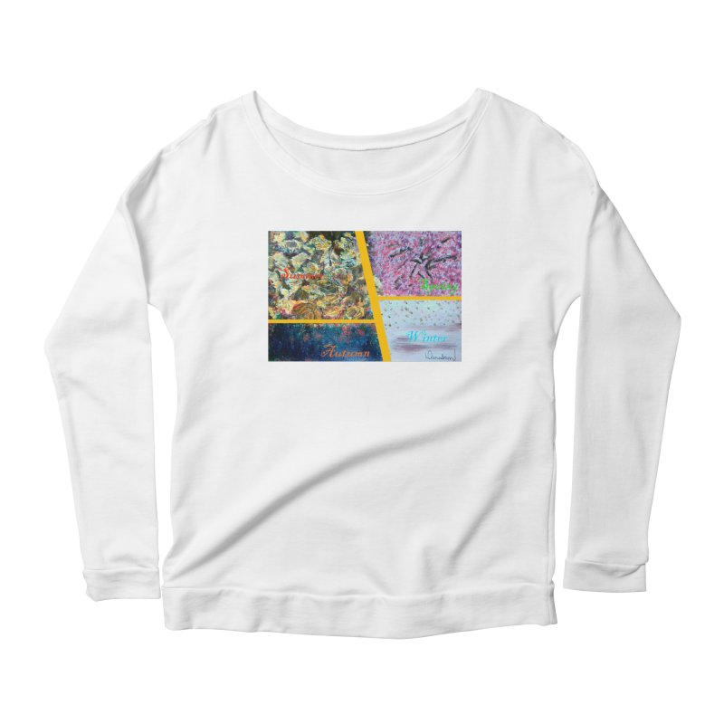 The Four Seasons Matsuo Basho Women's Scoop Neck Longsleeve T-Shirt by Darabem's Artist Shop. Darabem Collection