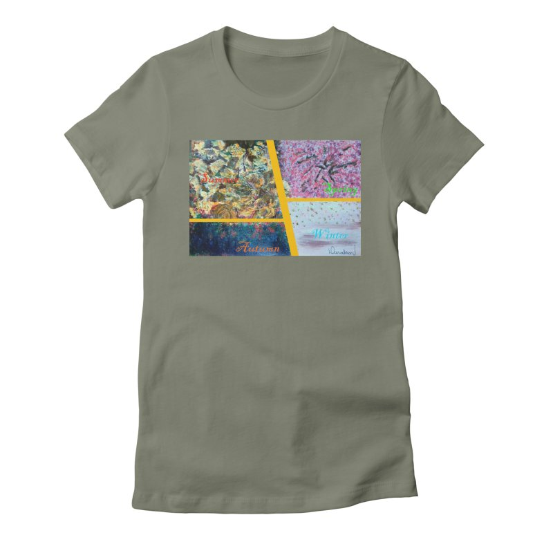 The Four Seasons Matsuo Basho Women's Fitted T-Shirt by Darabem's Artist Shop. Darabem Collection
