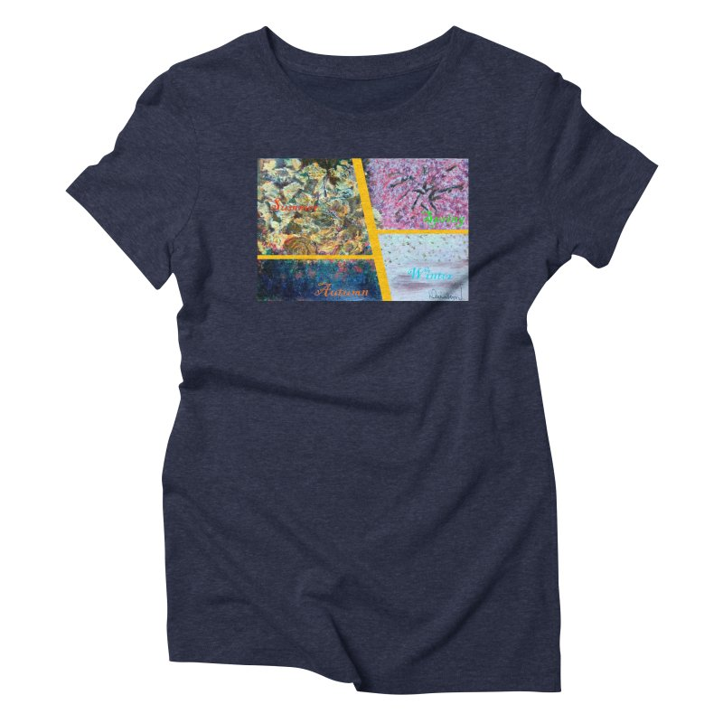 The Four Seasons Matsuo Basho Women's Triblend T-Shirt by Darabem's Artist Shop. Darabem Collection