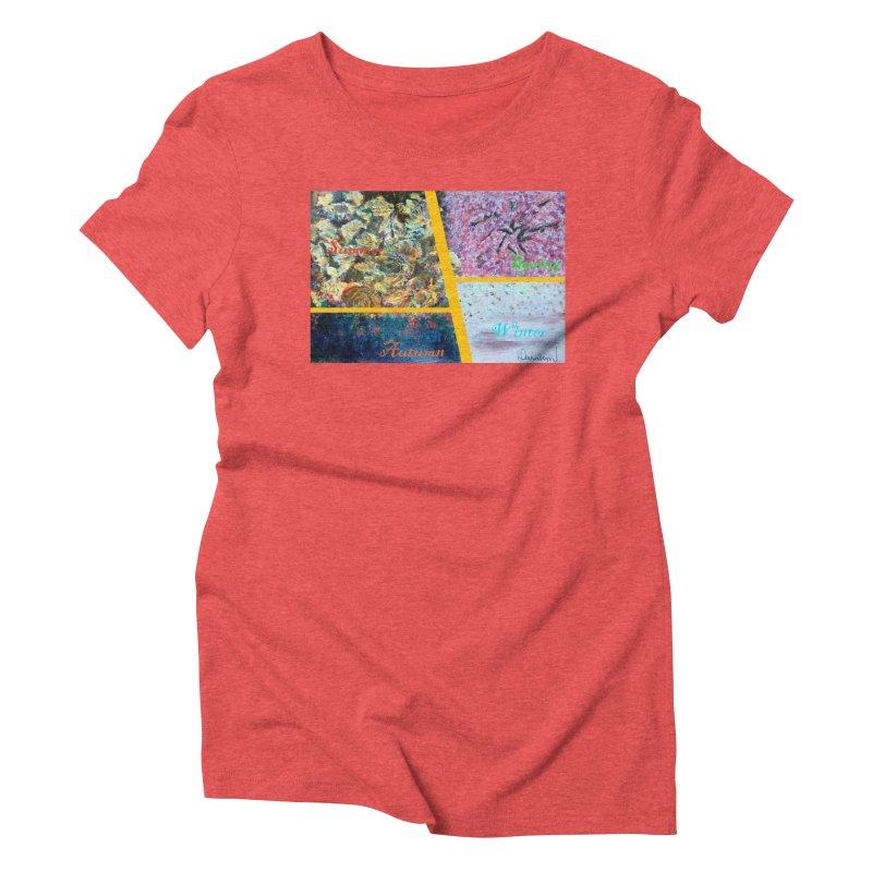 The Four Seasons Matsuo Basho Women's Triblend T-Shirt by Darabem's Artist Shop. Darabem Collection