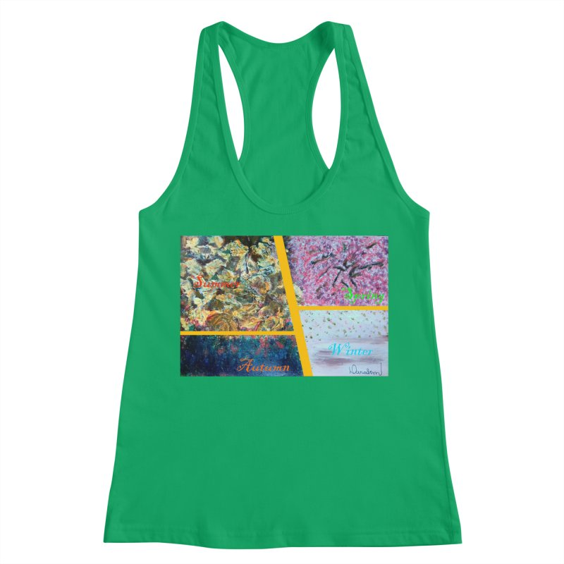 The Four Seasons Matsuo Basho Women's Racerback Tank by Darabem's Artist Shop. Darabem Collection