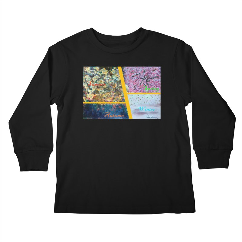 The Four Seasons Matsuo Basho Kids Longsleeve T-Shirt by Darabem's Artist Shop. Darabem Collection