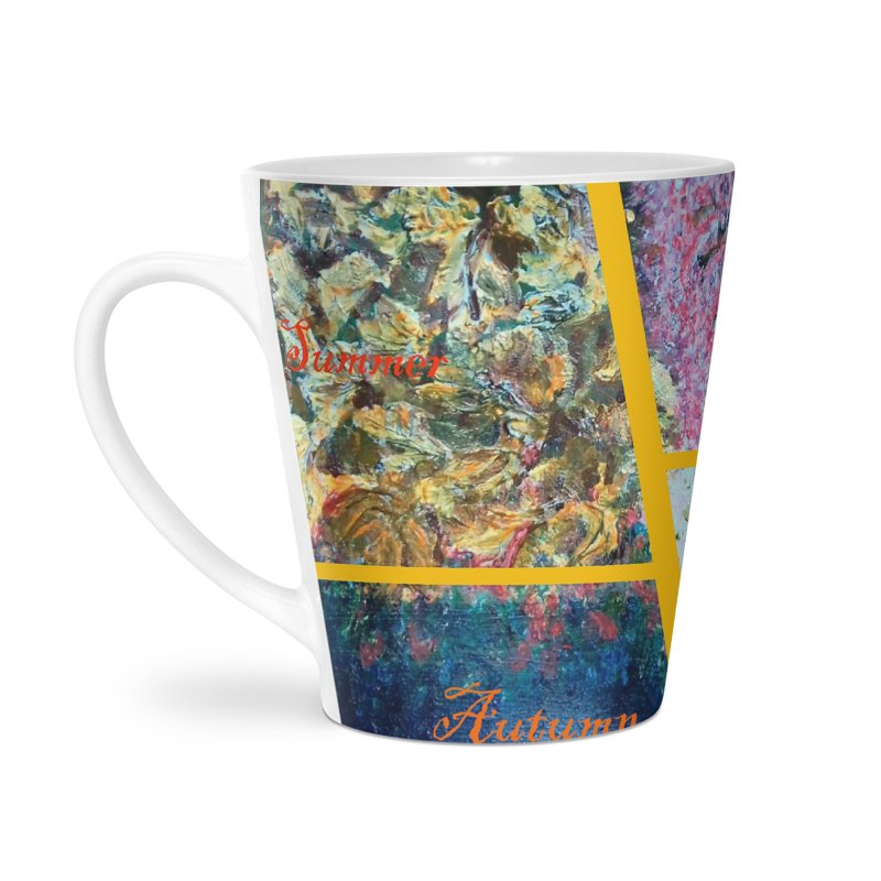 The Four Seasons Matsuo Basho Accessories Latte Mug by Darabem's Artist Shop. Darabem Collection