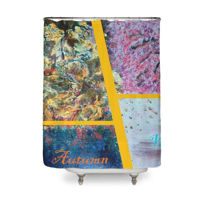 The Four Seasons Matsuo Basho Home Shower Curtain by Darabem's Artist Shop. Darabem Collection