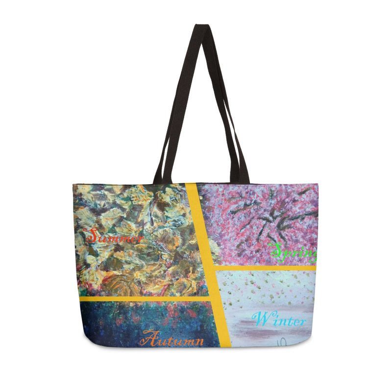 The Four Seasons Matsuo Basho Accessories Weekender Bag Bag by Darabem's Artist Shop. Darabem Collection