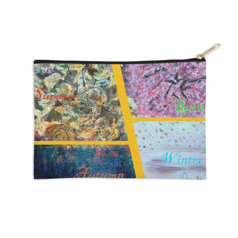 The Four Seasons Matsuo Basho Accessories Zip Pouch by Darabem's Artist Shop. Darabem Collection