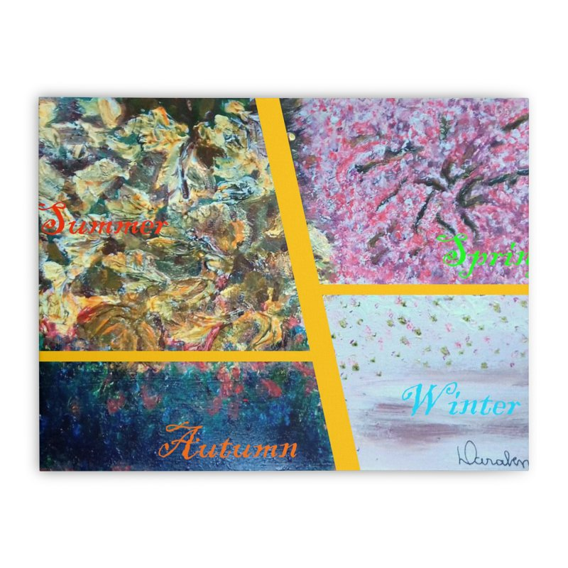 The Four Seasons Matsuo Basho Home Stretched Canvas by Darabem's Artist Shop. Darabem Collection