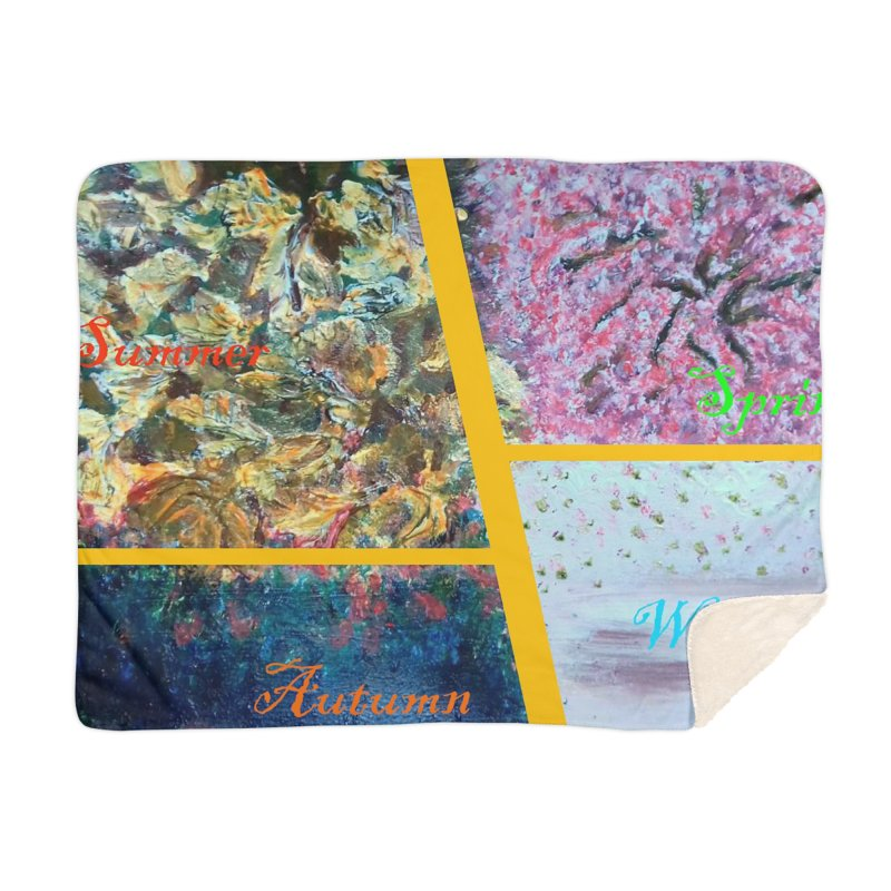 The Four Seasons Matsuo Basho Home Blanket by Darabem's Artist Shop. Darabem Collection