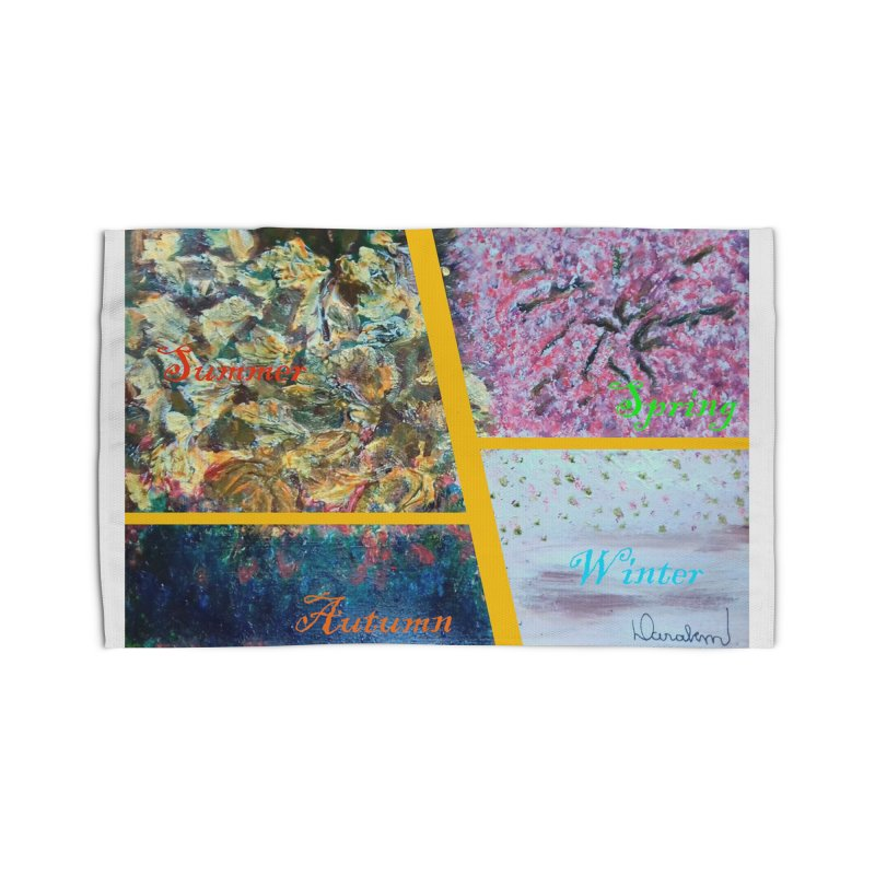 The Four Seasons Matsuo Basho Home Rug by Darabem's Artist Shop. Darabem Collection