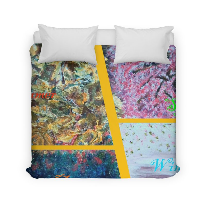 The Four Seasons Matsuo Basho Home Duvet by Darabem's Artist Shop. Darabem Collection