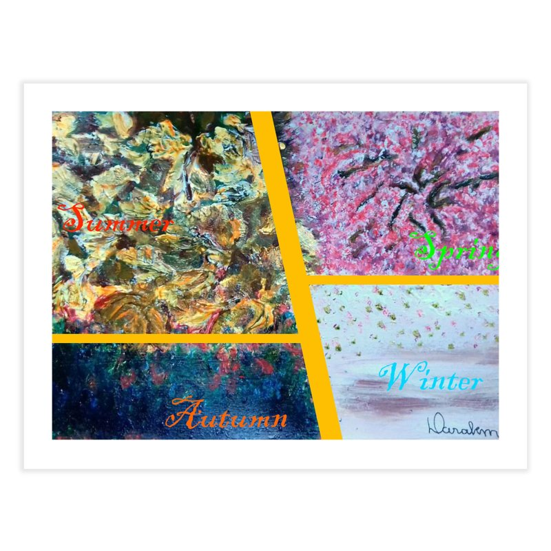 The Four Seasons Matsuo Basho Home Fine Art Print by Darabem's Artist Shop. Darabem Collection