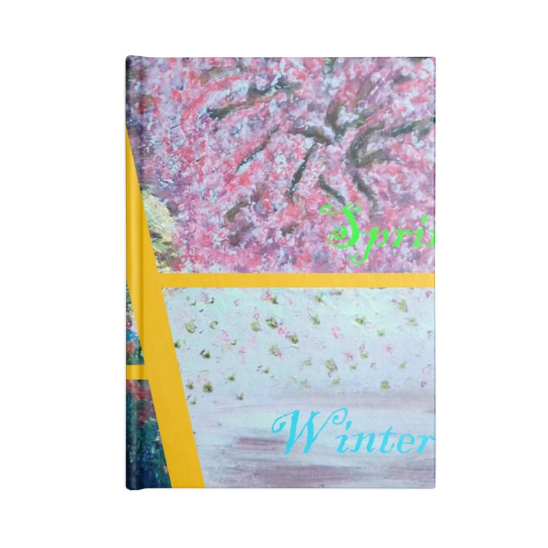 The Four Seasons Matsuo Basho Accessories Lined Journal Notebook by Darabem's Artist Shop. Darabem Collection