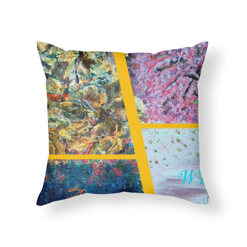 The Four Seasons Matsuo Basho Home Throw Pillow by Darabem's Artist Shop. Darabem Collection