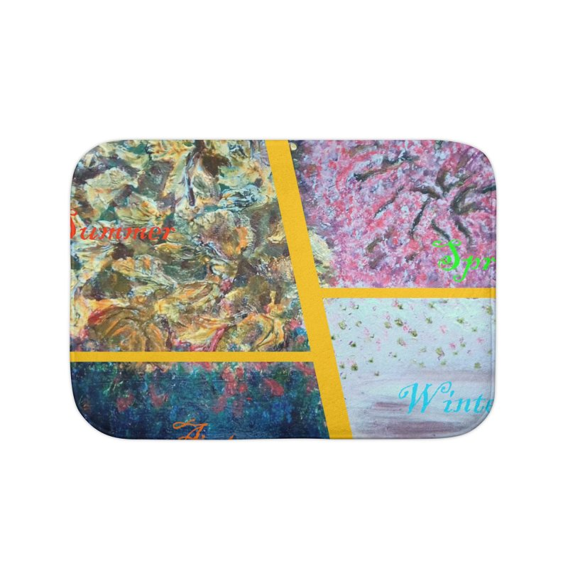 The Four Seasons Matsuo Basho Home Bath Mat by Darabem's Artist Shop. Darabem Collection