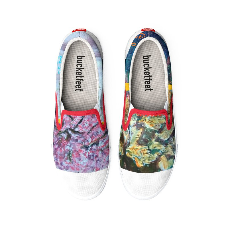 The Four Seasons Matsuo Basho Women's Shoes by Darabem's Artist Shop. Darabem Collection