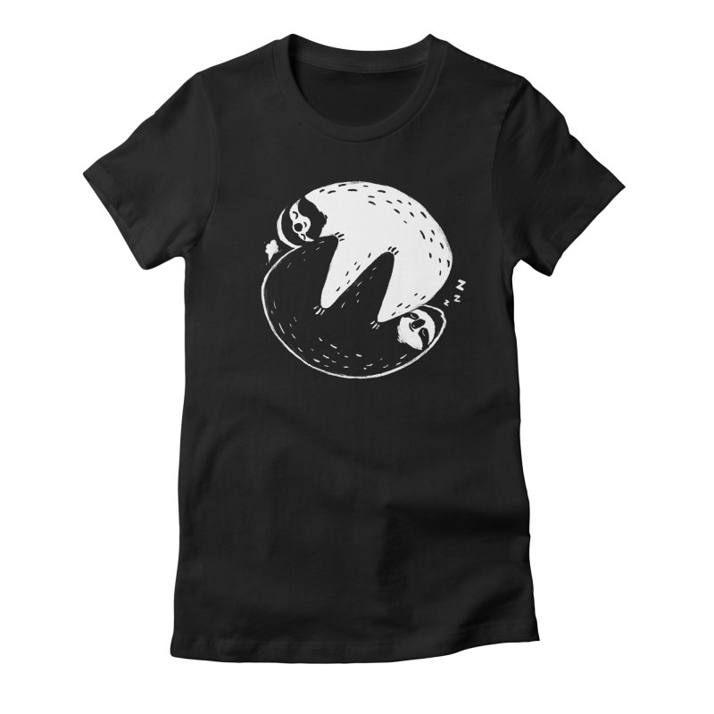 Slothful Slumber Women's Fitted T-Shirt by darel's Artist Shop