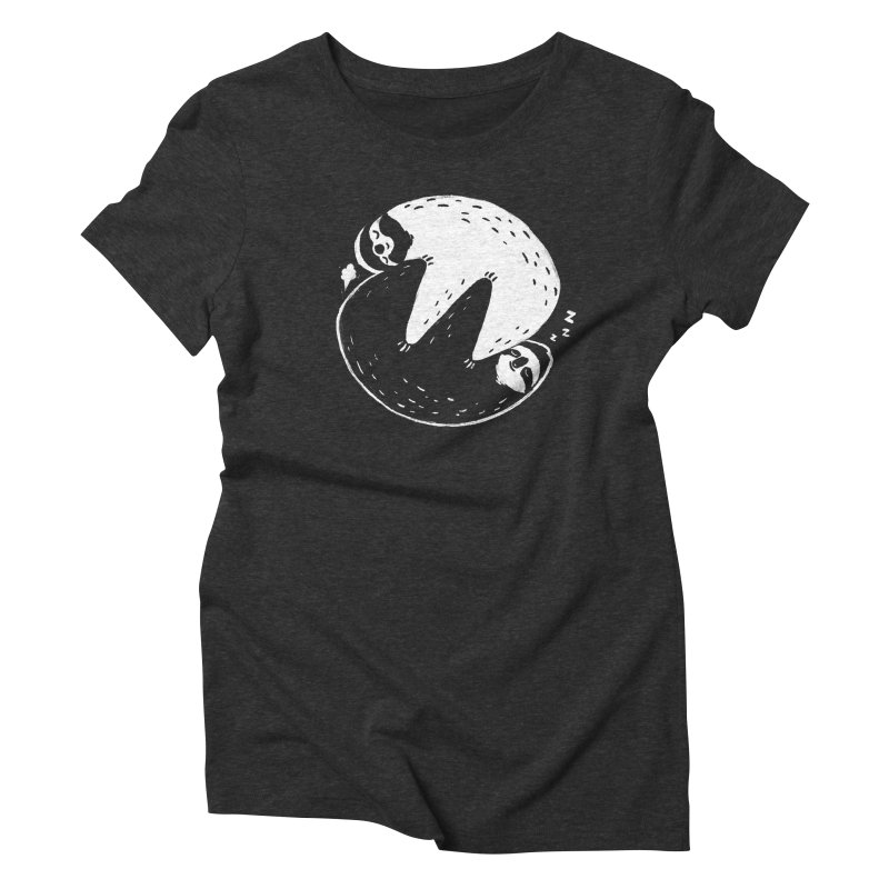 Slothful Slumber Women's Triblend T-Shirt by darel's Artist Shop
