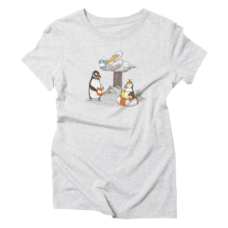 Birds of Literacy Women's Triblend T-Shirt by darel's Artist Shop