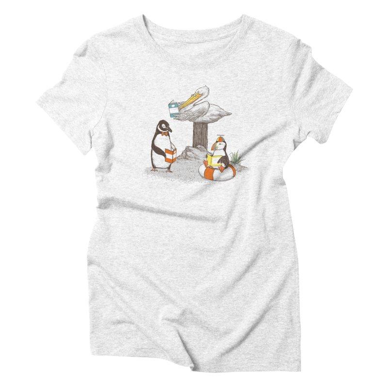 Birds of Literacy Women's Triblend T-shirt by darel's Artist Shop