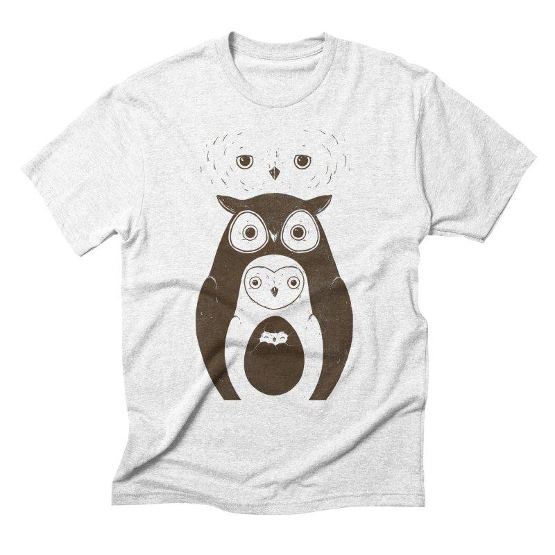 Owls Men's Triblend T-shirt by darel's Artist Shop