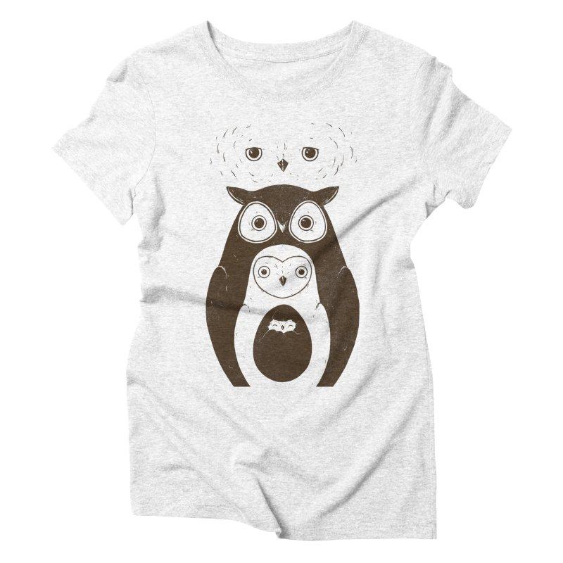 Owls Women's Triblend T-shirt by darel's Artist Shop