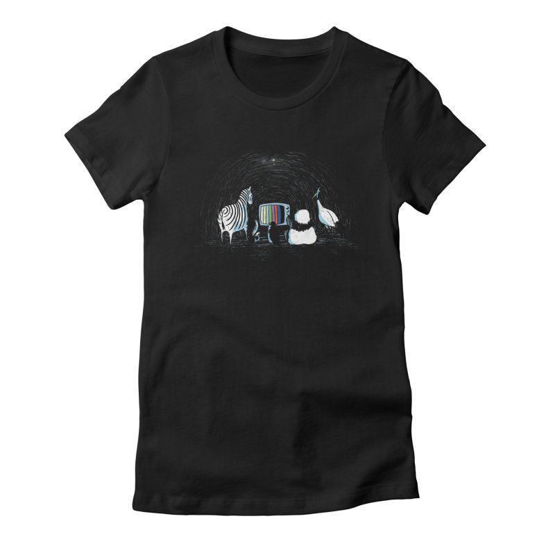 Now in Technicolour Women's Fitted T-Shirt by darel's Artist Shop
