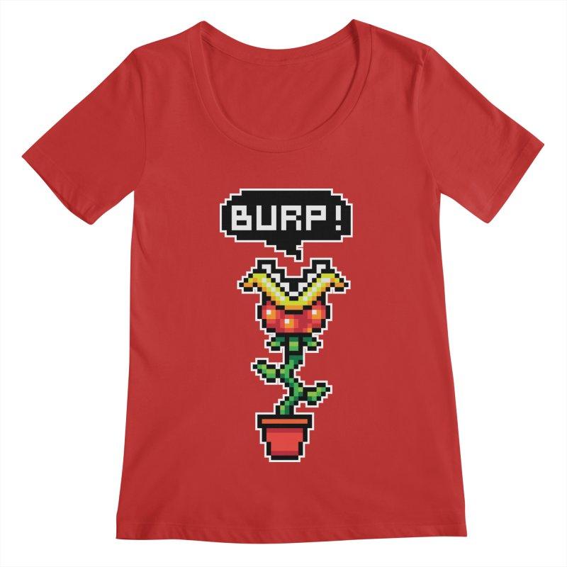 Burppp !!! Women's Regular Scoop Neck by darkchoocoolat's Artist Shop