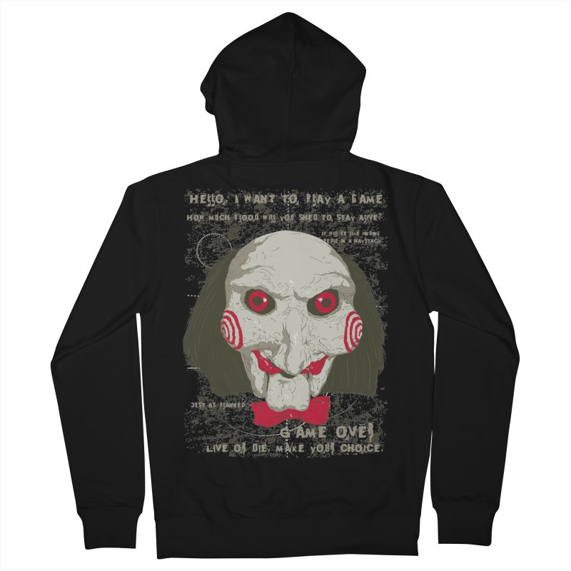 Time to Play ! Men's French Terry Zip-Up Hoody by darkchoocoolat's Artist Shop