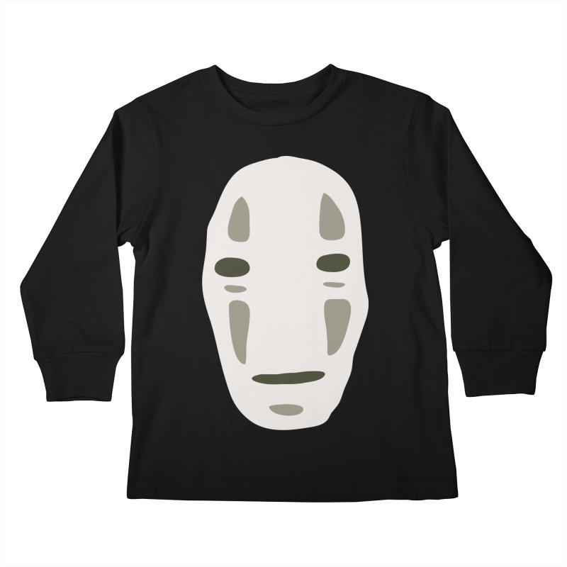 No Face Kids Longsleeve T-Shirt by darkchoocoolat's Artist Shop