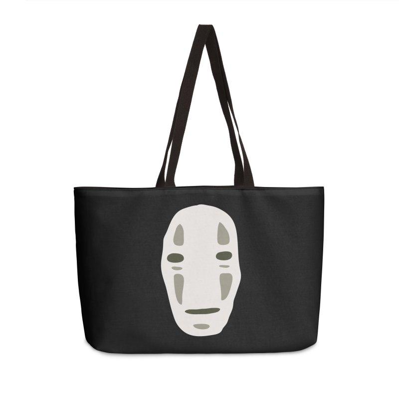 No Face Accessories Weekender Bag Bag by darkchoocoolat's Artist Shop