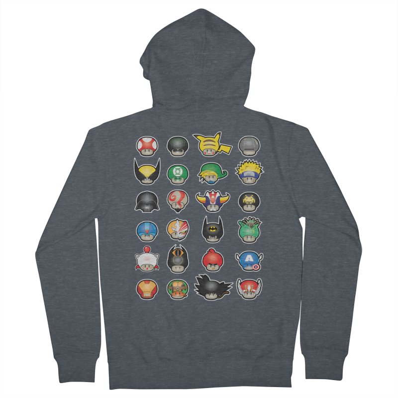 Know your Mushrooms Men's French Terry Zip-Up Hoody by darkchoocoolat's Artist Shop