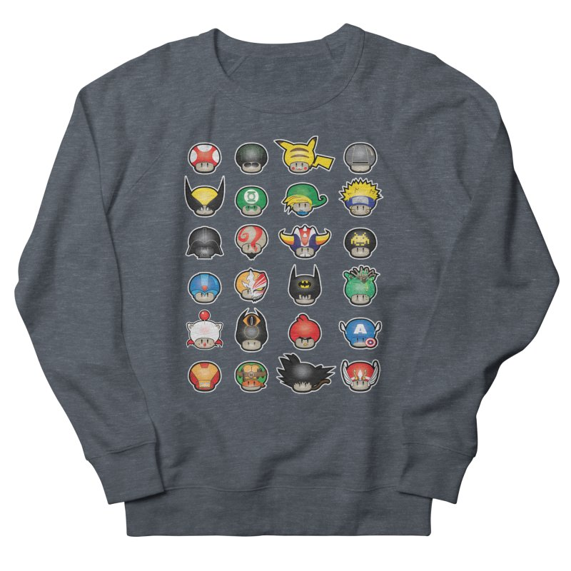 Know your Mushrooms Men's French Terry Sweatshirt by darkchoocoolat's Artist Shop