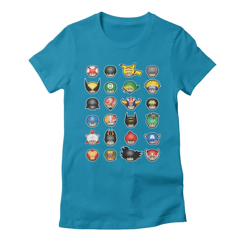 Know your Mushrooms Women's Fitted T-Shirt by darkchoocoolat's Artist Shop