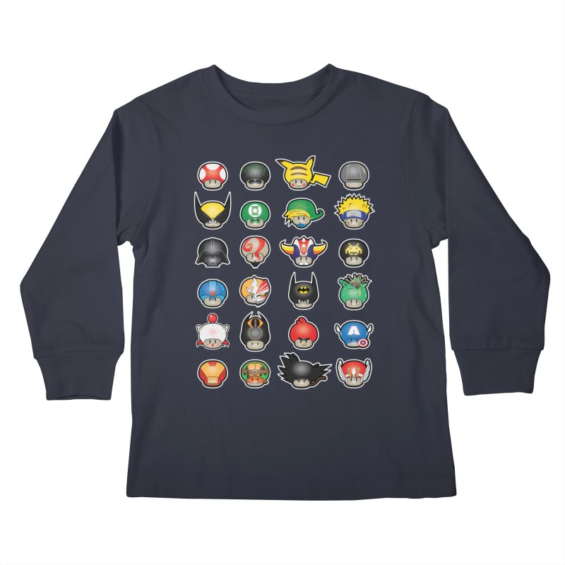 Know your Mushrooms Kids Longsleeve T-Shirt by darkchoocoolat's Artist Shop
