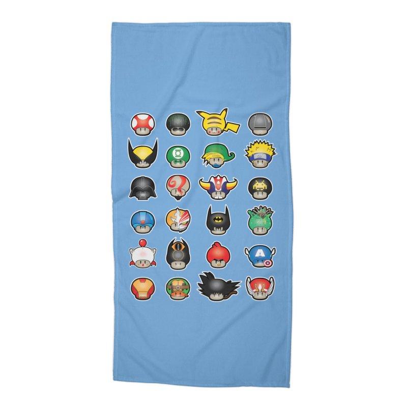Know your Mushrooms Accessories Beach Towel by darkchoocoolat's Artist Shop
