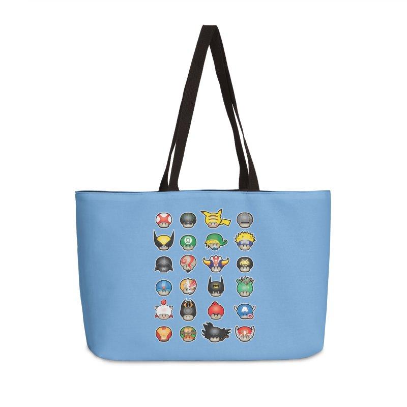 Know your Mushrooms Accessories Weekender Bag Bag by darkchoocoolat's Artist Shop