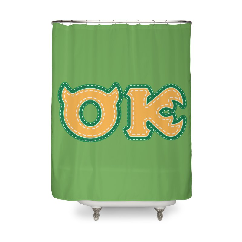 oozma Kappa Home Shower Curtain by darkchoocoolat's Artist Shop