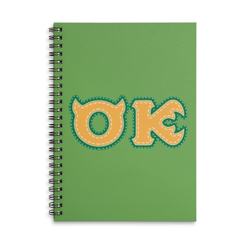 oozma Kappa Accessories Lined Spiral Notebook by darkchoocoolat's Artist Shop